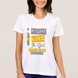 Appendix Cancer Label Logo I Fight Like A Girl T Shirt