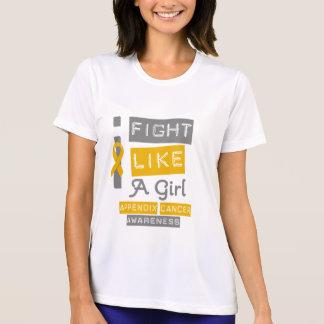 Appendix Cancer Label Logo I Fight Like A Girl T Shirt