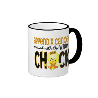 Appendix Cancer Messed With The Wrong Chick Ringer Mug
