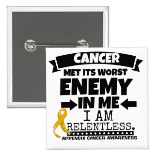 Appendix Cancer Met Its Worst Enemy in Me Button