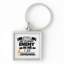 Appendix Cancer Met Its Worst Enemy in Me Keychain