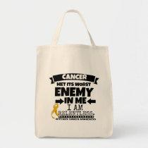Appendix Cancer Met Its Worst Enemy in Me Tote Bag