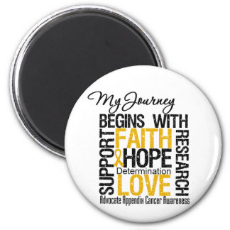 Appendix Cancer My Journey Begins With Faith Magnet