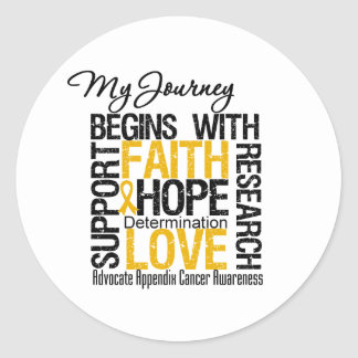 Appendix Cancer My Journey Begins With Faith Sticker