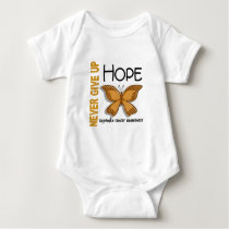 Appendix Cancer Never Give Up Hope Butterfly 4.1 Baby Bodysuit