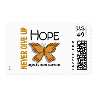Appendix Cancer Never Give Up Hope Butterfly 4.1 Postage Stamp