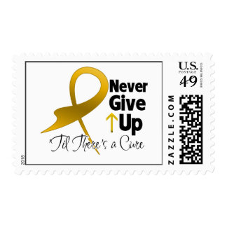 Appendix Cancer Never Give Up Postage Stamps