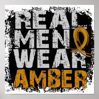 Appendix Cancer Real Men Wear Amber Poster