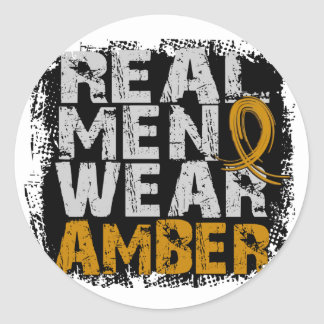 Appendix Cancer Real Men Wear Amber Stickers