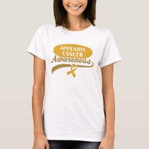 Appendix Cancer Ribbon awareness walk t-shirt