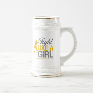 Appendix Cancer Ribbon - Fight Like a Girl Mugs