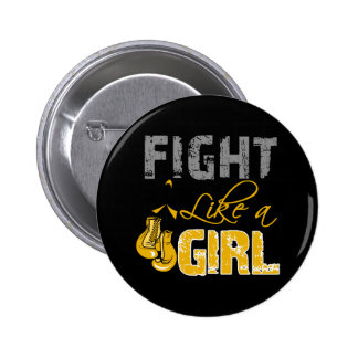 Appendix Cancer Ribbon Gloves Fight Like a Girl Pin