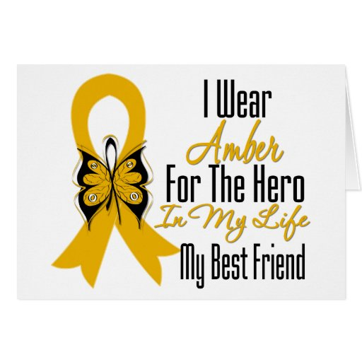 Appendix Cancer Ribbon Hero My Best Friend Greeting Card