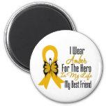 Appendix Cancer Ribbon Hero My Best Friend Refrigerator Magnet