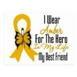 Appendix Cancer Ribbon Hero My Best Friend Postcards