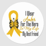 Appendix Cancer Ribbon Hero My Best Friend Sticker