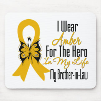 Appendix Cancer Ribbon Hero My Brother in Law Mouse Pad
