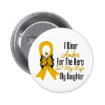 Appendix Cancer Ribbon Hero My Daughter Pin