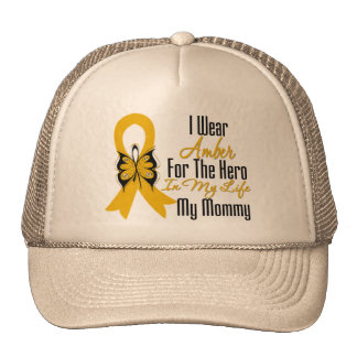 Appendix Cancer Ribbon Hero My Mommy Trucker Hat