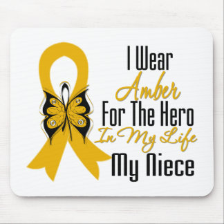 Appendix Cancer Ribbon Hero My Niece Mouse Pad
