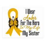 Appendix Cancer Ribbon Hero My Sister Postcards