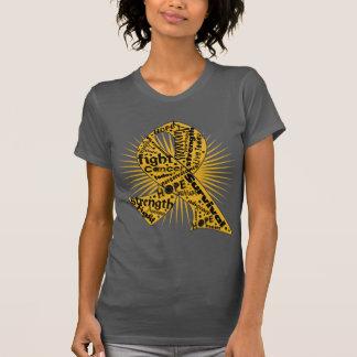 Appendix Cancer Ribbon Powerful Slogans Tshirts