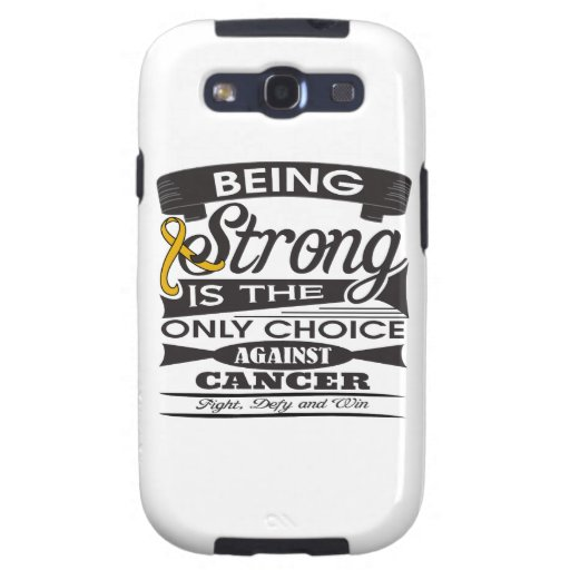 Appendix Cancer Strong is The Only Choice Galaxy S3 Covers