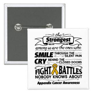 Appendix Cancer Strongest Among Us Pinback Button