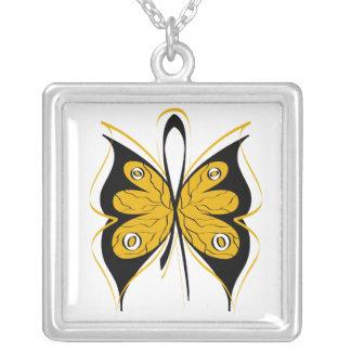 Appendix Cancer Stylish Butterfly Awareness Ribbon Custom Jewelry