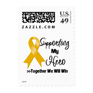 Appendix Cancer Supporting My Hero Postage Stamps