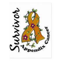 Appendix Cancer Survivor 15 Postcard
