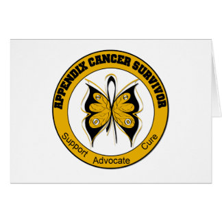 Appendix Cancer SURVIVOR Butterfly Cards