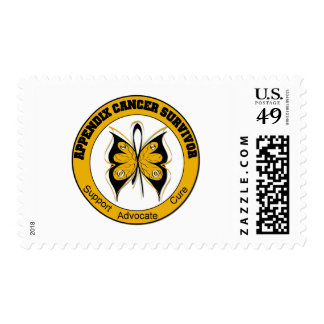 Appendix Cancer SURVIVOR Butterfly Stamp