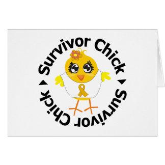 Appendix Cancer Survivor Chick Greeting Cards