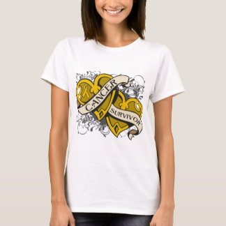 Appendix Cancer Survivor Dual Hearts T-Shirt
