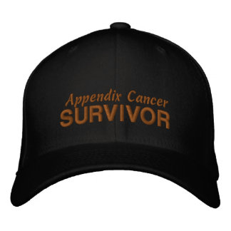 Appendix Cancer Survivor Embroidered Baseball Hat