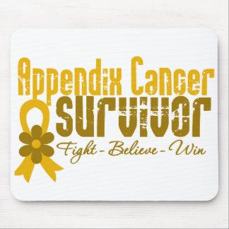 Appendix Cancer Survivor Flower Ribbon Mouse Pad