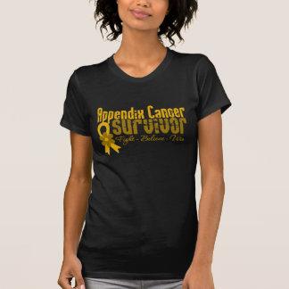 Appendix Cancer Survivor Flower Ribbon T Shirt