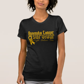 Appendix Cancer Survivor Flower Ribbon T-shirts
