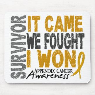 Appendix Cancer Survivor It Came We Fought I Won Mouse Pad