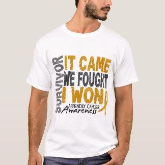 Appendix Cancer Survivor It Came We Fought I Won T-Shirt