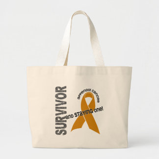 Appendix Cancer Survivor Large Tote Bag