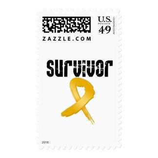 Appendix Cancer SURVIVOR Postage Stamp
