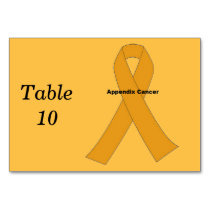Appendix Cancer Table Number