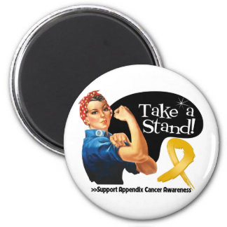 Appendix Cancer Take a Stand 2 Inch Round Magnet