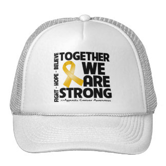 Appendix Cancer Together We Are Strong Trucker Hat