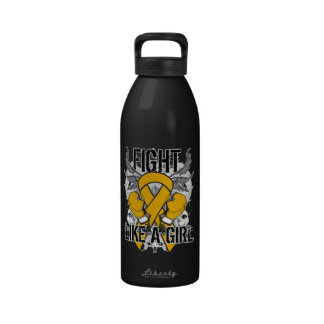 Appendix Cancer Ultra Fight Like A Girl Reusable Water Bottles