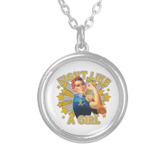 Appendix Cancer Vintage Rosie Fight Like A Girl Necklace