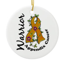 Appendix Cancer Warrior 15 Ceramic Ornament