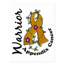 Appendix Cancer Warrior 15 Postcard